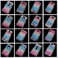 Colorful Bling Crystal Diamond Rhinestone Snap-On Hard Case Cover Skin Pouch