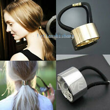Celebrity Style Trendy Metallic Silver&Gold Plated Hair Cuff Ponytail Holder