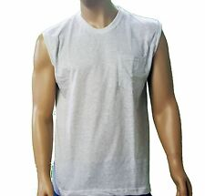 Muscle Shirts With Pocket - 8XB - 11/12XB  Made in USA  Big and Tall Sizes