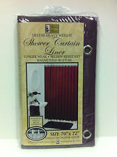 NEW Deluxe Heavy Weight Shower Curtain Liner