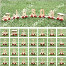 Wooden Train Letter Alphabet Letter Toy Birthday Xmas Wedding All Occasion Party