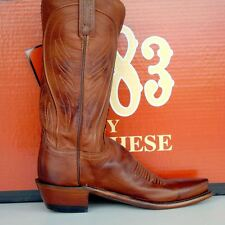 Lucchese Womens Cowgirl Boots 1883 Tan Burn Ranch Hand