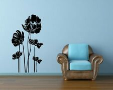 Poppys sticker on the wall. Wall Stickers &  Wall Decal & Wall Tatoo. 32 colours