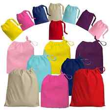 100% Cotton Drawstring Bags - Brand New - Available in various colours & Sizes
