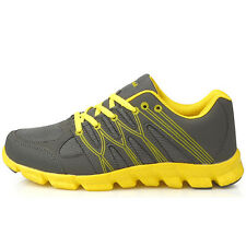 New Grey Yellow Mens Sports Club Running Training Sneakers Shoes