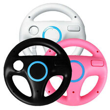 1x pcs Steering Wheel for Nintendo Wii MARIO KART RACING Game White/Pink/Black