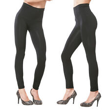 High Waist Black Size S M L Footless Full Length Slimming Leggings  Pants S-XL