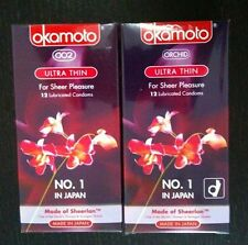 Okamoto Orchid ultra thin OO2 condom condoms 4s12s or 24s