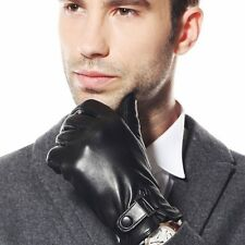 Top quality Men's Italian Nappa soft leather winter warm driving gloves