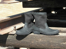 NEW MENS Leather UGG HARTSVILLE Black Biker Work Boot Leather Insole All Sizes