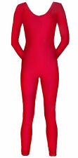Bodysuit Unitard / Costume Shiny Spandex Red Adult Sizes NEW Halloween