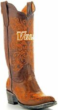 Womens Leather Handmade University Of Tennessee Vols Gameday Cowboy Boots