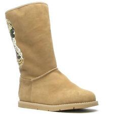 Ed Hardy Tan Bootstrap Boot for Women