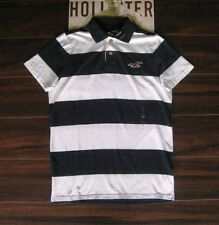 NWT Men's HOLLISTER SuperSoft White & Navy Polo Shirt Top Medium Large XL