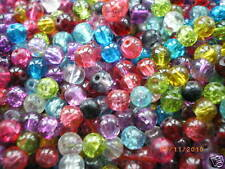 Glass Crackle Beads 4mm, 6mm, 8mm and10mm -Choose your Colour, Size & Quantity!