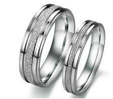 Classic Titanium dull polish ring love promise couple ring lover's GIFT 1 piece