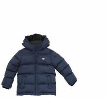Boys Jacket Coat Navy Cat Caterpillar Puffa Warm Zip School Kids Childs Infant