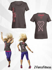 Zumba Fitness SHARE THE LOVE CREW NECK T Shirt S L XL Cancer Awareness New