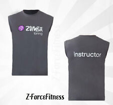 Zumba Fitness Toning Muscle Tank Top T Shirt - Gray w Purple All Sizes NEW NWT