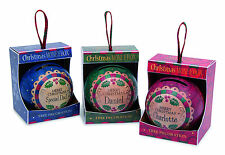 H&H Personalised Christmas Money Box Tree Decorations Names S-Z
