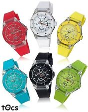tOcs® Silver Tone Simulated Crystal Watches - pick a color!