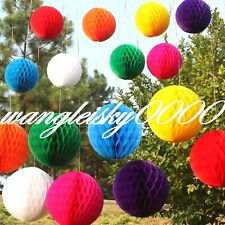 "Honeycomb Ball Paper Lanterns Wedding Birthday Party Decorations 6"" 8"" 10"" 12"""