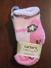 New NWT Carter Girl Pink Polka Dot Mary Jane Chenille Socks 3 Pack 0-3 mo Reborn