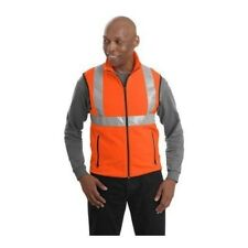 NEW Cornerstone Fleece Full-Zip Vest  W Reflective Taping SAFETY ORANGE YELLOW