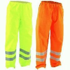 hi vis Trousers High visibility Orange Yellow Navy Waterproof Windproof s m l xl