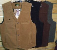 Vest Mens Wool Wyoming Traders Horsemen Rancher Vest