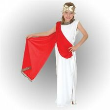 Girls Roman Greek Goddess Toga Party Fancy Dress Costume Child Kids Outfit 3-12