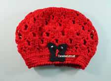 Children Child Baby girls Kids Toddler Crochet Knitted Flower beanie hat cap