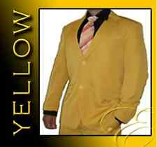 NEW YELLOW 2 BUTTONS MENS SUIT SCHOOL FORMAL MICROFIBRE