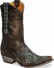 Womens Chocolate Leather Old Gringo Boots Milagros w/ Swarovski Crystals