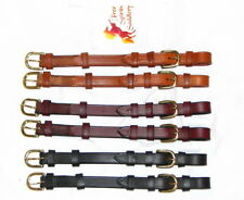 "FSS German Leather POSH OVAL BUCKLE Bridle Cheekpieces Cheek Pieces 5/8"" 16mm"