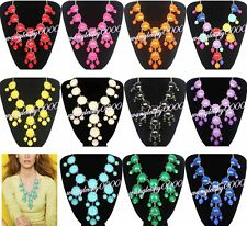 New Women Bubble Bib Statement Fashion Chain Necklace Many Colors U Pick
