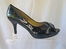 LADIES SPOT ON NAVY SHOES- F10069