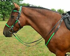 WARMBLOOD or TB Size* ANY 2 COLOR Quick Change HALTER BRIDLE & BREAST COLLAR SET