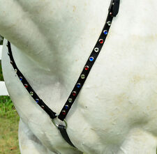Any Color JEWELED BLING RHINESTONES English BREAST COLLAR Beta Biothane