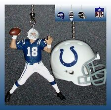NFL INDIANAPOLIS COLTS  CEILING FAN PULLS - CHOICE OF FIGURE &  RIDDELL HELMET
