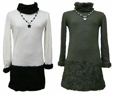 Girls Fluffy Fashion Dress With FREE Necklace 3 4 5 6 7 8 9 10 11 Years