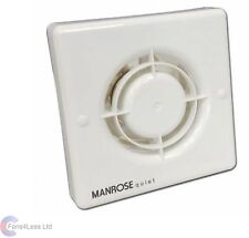 Manrose QF100H Humidity + Timer Bathroom Shower Extractor Fan 100mm Quiet Fan