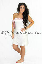 Pyjamas Ladies PJs Cream Lace Satin Nightie Sz 8 10 12 14 16
