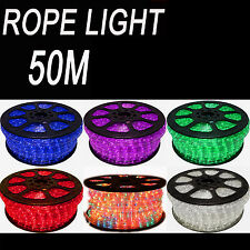 50M PARTY CHRISTMAS WEDDING ROPE LIGHTS WITH POWER CORD