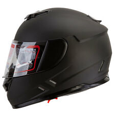 IV2 Matte Black Dual Visor Full Face Street Bike Motorcycle Helmet DOT S/M/L/XL