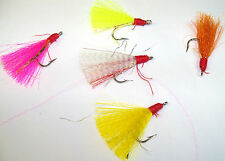 SILLY WILLY LURES 1/0 HOOK TEASERS OR FLIES.. HAND TIED FOR POMPANO, BLUEFISH...