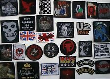 Band Patches NEW pistols ska rock punk acdc bullet roses foo misfits che korn u2
