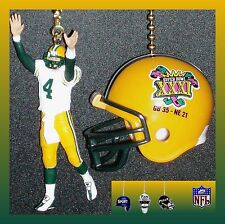 NFL GREEN BAY PACKERS FAVRE FIGURE & LOMBARDI TROPHY/SUPER BOWL HELMET FAN PULLS