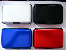 Deluxe Aluma Wallet Credit Card Holder Protect RFID Scanning Aluminum Case