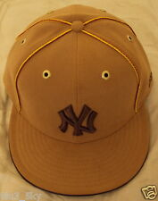 NEW ERA 59FIFTY 5950 FITTED MLB NY NEW YORK YANKEES WHEAT SUEDE LEATHER CAP HAT